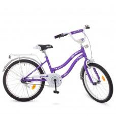 Велосипед детский двухколесный для девочек PROFI Y2093 Star, 20 дюймов, сиреневый