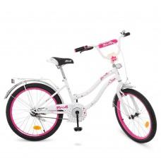 Велосипед детский двухколесный для девочек PROFI Y2094 Star, 20 дюймов, белый