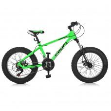 """Велосипед фэтбайк Profi HIGHPOWER 20 дюймов, рама 13"""", салатовый (EB20HIGHPOWER 2.0 A20.1)"""