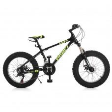 """Велосипед фэтбайк Profi HIGHPOWER 20 дюймов, рама 13"""", черный (EB20HIGHPOWER 2.0 A20.2)"""