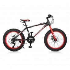 """Велосипед фэтбайк Profi POWER 20 дюймов, рама 13"""", черный (EB20POWER 1.0 S20.1)"""
