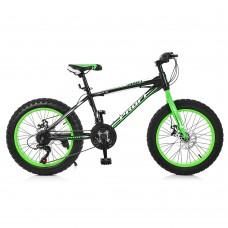 """Велосипед фэтбайк Profi POWER 20 дюймов, рама 13"""", зелено-черный (EB20POWER 1.0 S20.2)"""