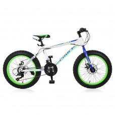 "Велосипед фэтбайк Profi POWER 20 дюймов, рама 13"", белый (EB20POWER 1.0 S20.3)"