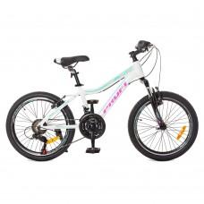 """Велосипед горный MTB Profi AIRY 20 дюймов, рама 12"""", белый (G20AIRY A20.3)"""