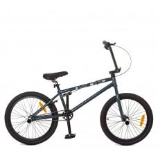 """Велосипед BMX Profi BMXDEEP 20 дюймов, рама 9,5"""", графитовый (G20BMXDEEP S20.1)"""