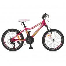 """Велосипед горный MTB Profi CARE 20 дюймов, рама 12"""", малиновый (G20CARE A20.1)"""