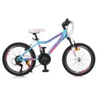 """Велосипед горный MTB Profi CARE 20 дюймов, рама 12"""", голубой (G20CARE A20.2)"""