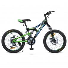 """Велосипед горный MTB Profi DAMPER 20 дюймов, рама 12"""", черный (G20DAMPER S20.1)"""