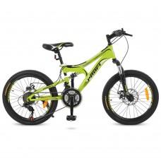 """Велосипед горный MTB Profi DAMPER 20 дюймов, рама 12"""", салатовый (G20DAMPER S20.4)"""