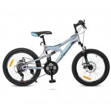"""Велосипед горный MTB Profi DAMPER 20 дюймов, рама 12"""", серый (G20DAMPER S20.5)"""