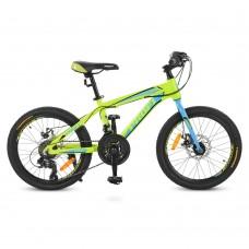 """Велосипед горный MTB Profi HARDY 20 дюймов, рама 12"""", салатовый (G20HARDY A20.1)"""