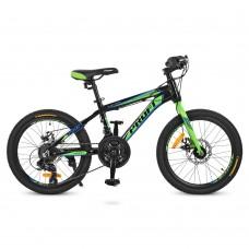 """Велосипед горный MTB Profi HARDY 20 дюймов,  рама 12"""", черный (G20HARDY A20.2)"""