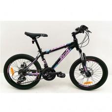 """Велосипед горный MTB Profi OPTIMAL 20 дюймов, рама 12,5"""", черный (G20OPTIMAL A20.2)"""