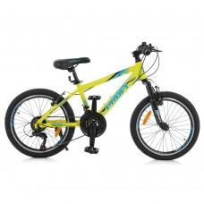 """Велосипед горный MTB Profi PLAIN 20 дюймов, рама 12"""", салатовый (G20PLAIN A20.1)"""
