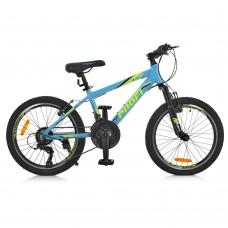 """Велосипед горный MTB Profi PLAIN 20 дюймов, рама 12"""", голубой (G20PLAIN A20.2)"""