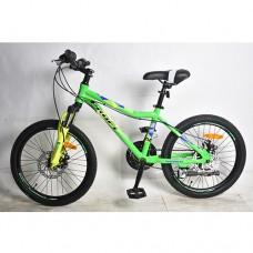 """Велосипед горный MTB Profi SWIFT 20 дюймов, рама 12,5"""", салатовый (G20SWIFT A20.1)"""