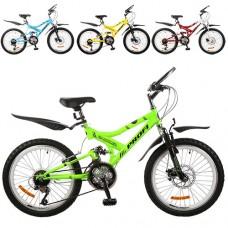 """Велосипед горный (MTB) Profi GAMBLER 20 дюймов, рама 13,5"""", микс цветов (G20GAMBLER M2009MIX)"""