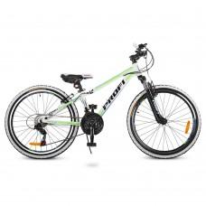 "Велосипед горный MTB Profi A315 24 дюйма, рама 13,5"", белый (G24A315-L-3W)"