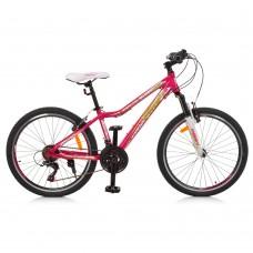 """Велосипед горный MTB Profi CARE 24 дюйма, рама 13,5"""", малиновый (G24CARE A24.1)"""