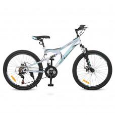 "Велосипед горный MTB Profi DAMPER 24 дюйма, рама 15"", серый (G24DAMPER S24.5)"