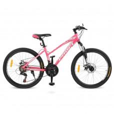 """Велосипед горный MTB Profi ELEGANCE 24 дюйма, рама 14"""", розовый (G24ELEGANCE A24.1)"""
