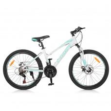 "Велосипед горный MTB Profi ELEGANCE 24 дюйма, рама 14"", белый (G24ELEGANCE A24.3)"