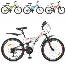 """Велосипед горный (MTB) Profi GAMBLER 24 дюйма, рама 13,5"""", микс цветов (G24GAMBLER S24MIX)"""
