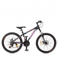 """Велосипед горный MTB Profi OPTIMAL 24 дюйма, рама 13"""", черный (G24OPTIMAL A24.2)"""