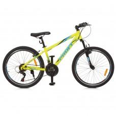 "Велосипед горный MTB Profi PLAIN 24 дюйма, рама 13,5"", салатовый (G24PLAIN A24.1)"
