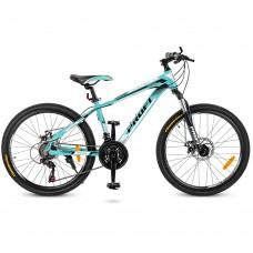 "Велосипед горный MTB Profi PRECISE 24 дюйма, рама 14"", мятный (G24PRECISE A24.1)"
