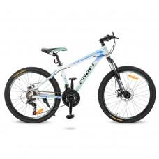 """Велосипед горный MTB Profi PRECISE 24 дюйма, рама 14"""", белый (G24PRECISE A24.2)"""
