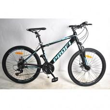 """Велосипед горный MTB Profi SHARP 24 дюймов, рама 15"""", черный (G24SHARP A24.1)"""