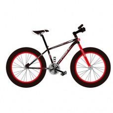 """Велосипед фэтбайк Profi POWER 26 дюймов, рама 17"""", красно-черный (EB26POWER 1.0 S26.1)"""