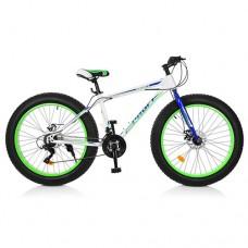 "Велосипед фэтбайк Profi POWER 26 дюймов, рама 17"", белый (EB26POWER 1.0 S26.3)"
