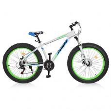 "Велосипед фэтбайк Profi HIGHPOWER 26 дюймов, рама 17"", белый (EB26HIGHPOWER 2.0 A26.1)"