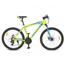 """Велосипед горный MTB Profi HARDY 26 дюймов, рама 18"""", салатовый (G26HARDY A26.1)"""