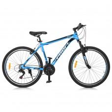 """Велосипед горный MTB Profi SIRIUS 26 дюймов, рама 18"""", черно-голубой (G26SIRIUS A26.1)"""