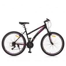 """Велосипед горный MTB Profi VEGA 26 дюймов, рама 17,5"""", черный (G26VEGA A26.2)"""