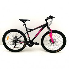 """Велосипед горный MTB Profi BELLE 26 дюймов, рама 17"""", малиново-черный (G26BELLE A26.2)"""