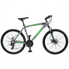 """Велосипед горный MTB Profi EXTRA 26 дюймов, рама 19"""", зелено-серый (GW26EXTRA A26.1)"""