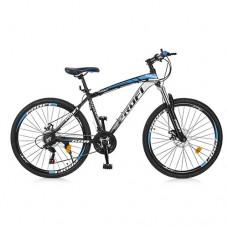 """Велосипед горный MTB Profi FORMAT 26 дюймов, рама 17"""", черно-голубой (EB26FORMAT A26.2)"""
