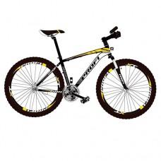 """Велосипед горный MTB Profi FORMAT 26 дюймов, рама 17"""", черно-желтый (EB26FORMAT A26.3)"""