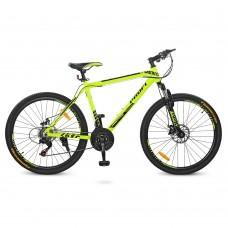 """Велосипед горный MTB Profi YOUNG 26 дюймов, рама 19"""", салатовый (G26YOUNG A26.1M)"""
