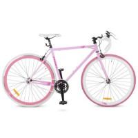 """Велосипед трековый Profi FIX 28 дюймов, рама 19"""", розовый (FIX26C701-2H)"""