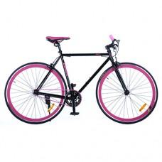 Велосипед городской Profi JOLLY 28 дюймов, рама 54 см, розово-черный (G54JOLLY S700C-4)