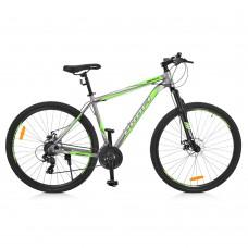 "Велосипед найнер Profi GRAPHITE 29 дюймов, рама 19,5"", салатово-серый (G29GRAPHITE A29.2)"