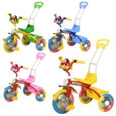 Трехколесный велосипед с ручкой детский Bambi B 2-2 - 6011, EVA колеса, микс цветов