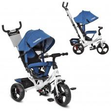 Велосипед трехколесный с ручкой детский Turbo Trike M 3113J-7 EVA колеса, джинс синий