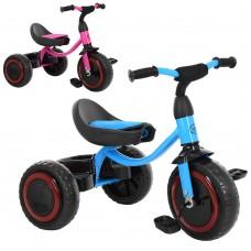 Трехколесный велосипед Turbo Trike M 3649-M-2, EVA колеса, голубой и малиновый