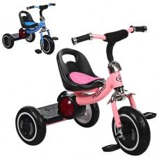 Трехколесный велосипед Turbo Trike M 3650-M-1, EVA колеса, розовый и голубой